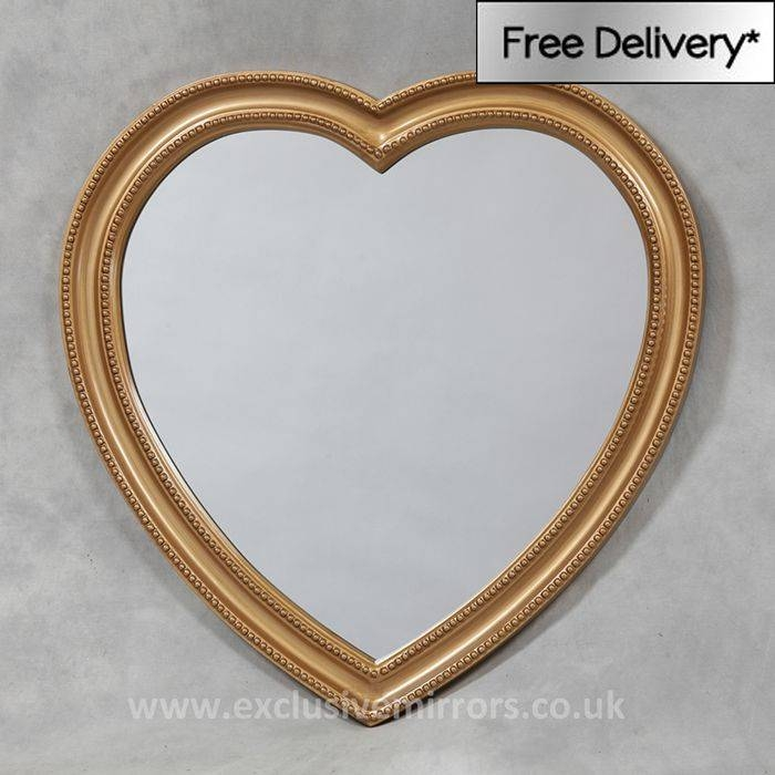 27 Best Heart Shaped Mirrors Images On Pinterest | Heart Shapes With Gold Heart Mirrors (#5 of 30)