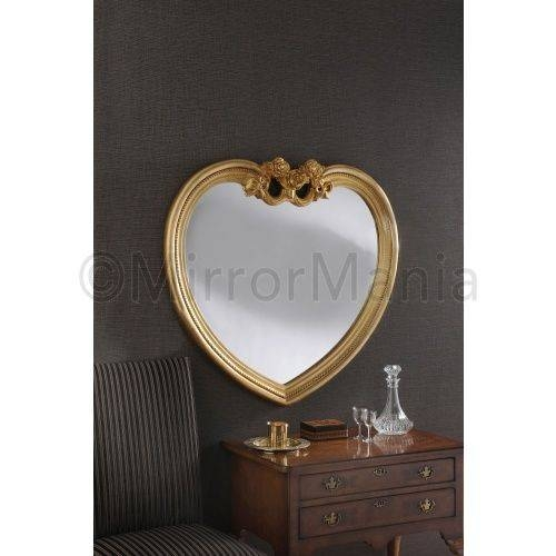27 Best Heart Shaped Mirrors Images On Pinterest | Heart Shapes With Regard To Gold Heart Mirrors (#6 of 30)