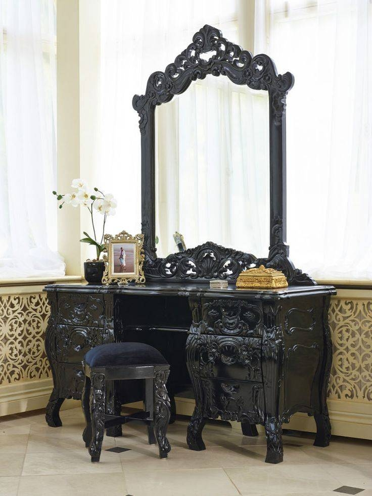 28 Best Meja Rias Images On Pinterest | Dressing Table Mirror Within Black Rococo Mirrors (#6 of 30)