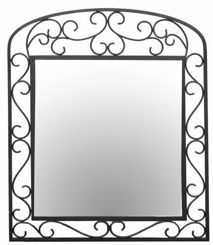 28+ [ Wrought Iron Bathroom Mirror ] | Mirrors Mirror Frames Throughout Wrought Iron Bathroom Mirrors (#4 of 30)