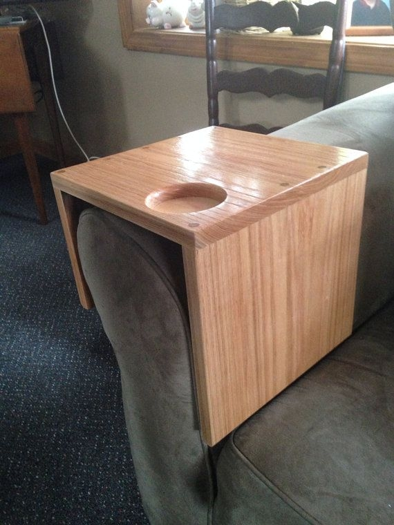 29 Best Sofa Arm Rest Images On Pinterest Couch Sofa Couch In Sofa Drink Tables (#4 of 15)