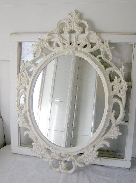 297 Best Beautiful Mirrors 3 Images On Pinterest | Mirror Mirror Regarding Vintage White Mirrors (View 5 of 20)