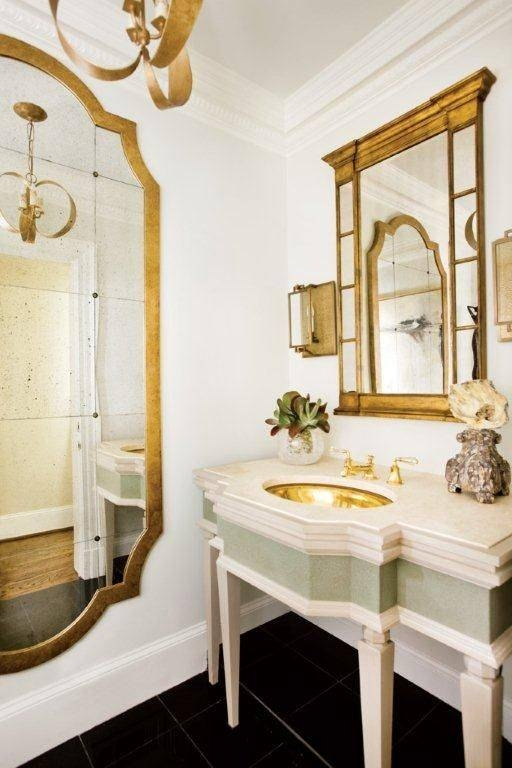 297 Best Beautiful Mirrors 3 Images On Pinterest | Mirror Mirror With Gold French Mirrors (#7 of 30)
