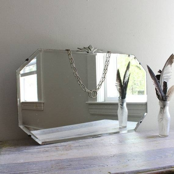 30 Best Vintage Beveled Glass Mirrors Images On Pinterest | Glass Pertaining To Bevelled Glass Mirrors (#2 of 20)