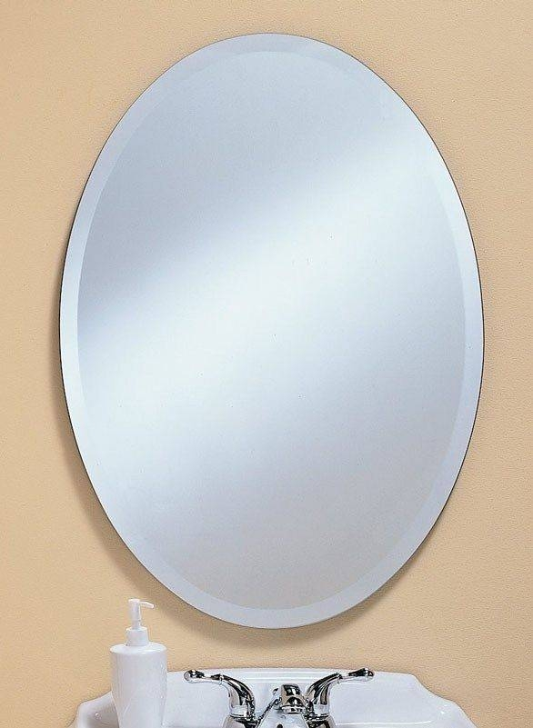 Inspiration about 31 Best Frameless Mirrors Images On Pinterest | Frameless Mirror Within Beveled Edge Oval Mirrors (#5 of 20)