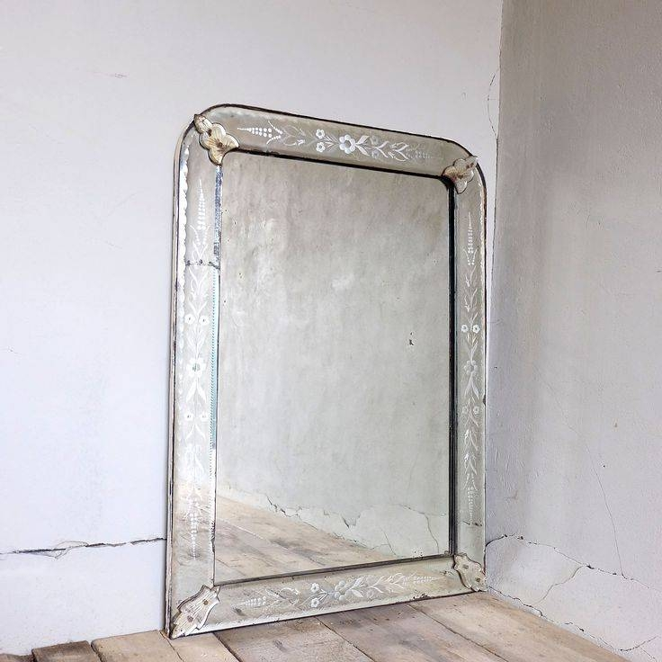 Inspiration about 31 Best On The Wall Antiques C20Th All Glass & Venetian Style Pertaining To Antique Mirrors London (#20 of 20)