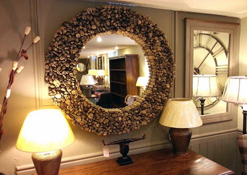 Inspiration about 31 Naturally Beautiful Driftwood Mirrors Within Odd Shaped Mirrors (#18 of 20)