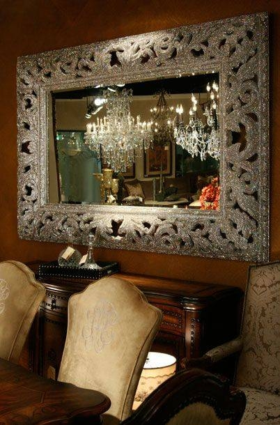 317 Best Mirrors Images On Pinterest | Mirror, Mirror Mirror And Inside Mirrors With Crystals (#10 of 30)