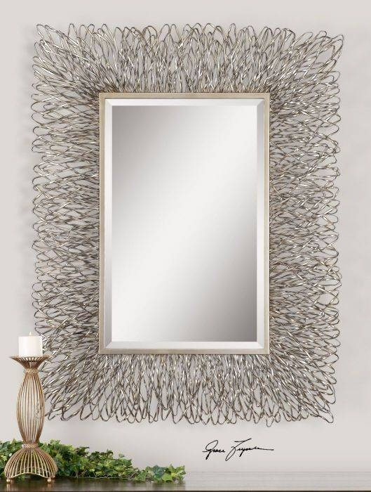 32 Best Wall Mirrors Images On Pinterest | Wall Mirrors, Mirror With Regard To Silver Rectangular Bathroom Mirrors (#4 of 20)