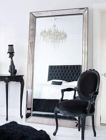 Inspiration about 32 Interior Designs With Free Standing Mirrors | Interior Designs Home Intended For Free Standing Black Mirrors (#28 of 30)