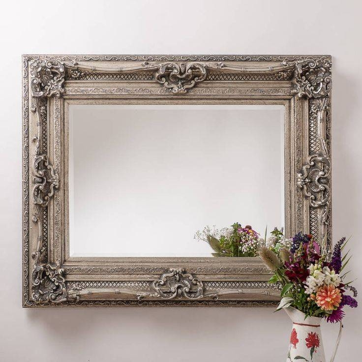 33 Best Mirrors Images On Pinterest | Wall Mirrors, Antique Silver Intended For Pewter Ornate Mirrors (View 3 of 30)