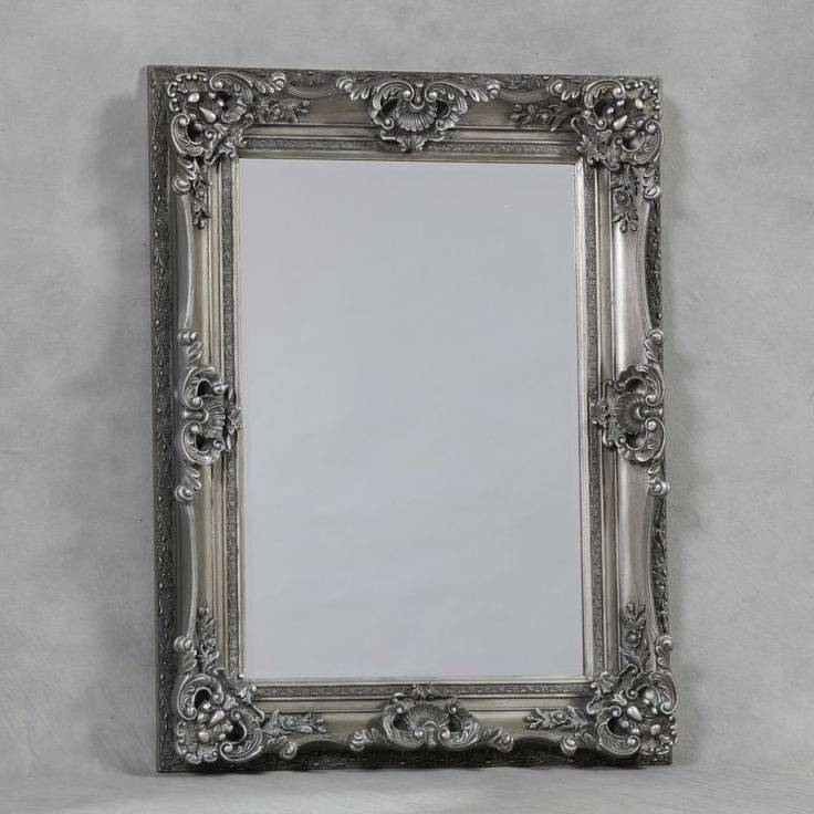 Inspiration about 33 Best Mirrors Images On Pinterest | Wall Mirrors, Antique Silver Intended For Silver Ornate Framed Mirrors (#11 of 20)