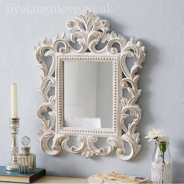 339 Best ~ Mirrors ~ Images On Pinterest | Mirror Mirror, Ornate Throughout White Shabby Chic Mirrors (#4 of 30)