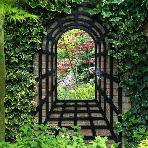 34 Best Espejos Jardin Images On Pinterest | Garden Mirrors In Garden Window Mirrors (#7 of 20)