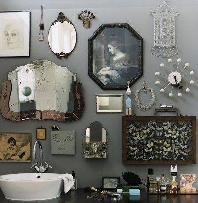 Inspiration about 344 Best Mirrors Images On Pinterest | Mirrors, Mirror Mirror And Home For Grey Vintage Mirrors (#8 of 20)