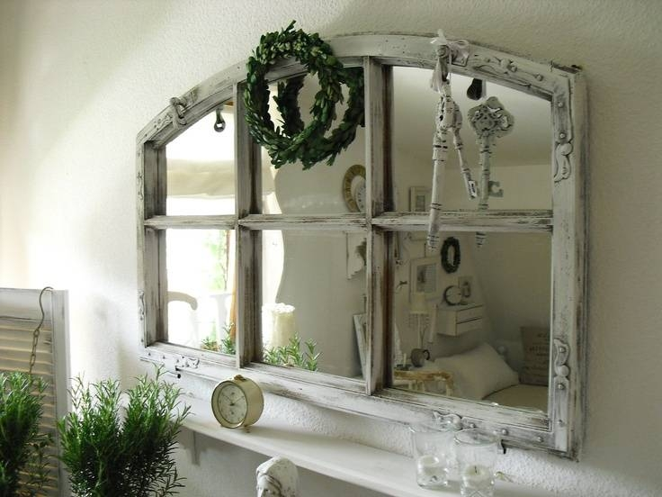 349 Best ~gorgeous Vintage Mirrors~ Images On Pinterest | Mirror Throughout Shabby Chic Window Mirrors (View 19 of 20)