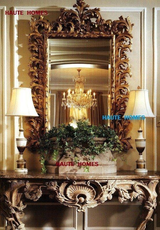 35 Best Mirrors Images On Pinterest | Floor Mirrors, Mirror Mirror With Regard To Baroque Gold Mirrors (#9 of 20)