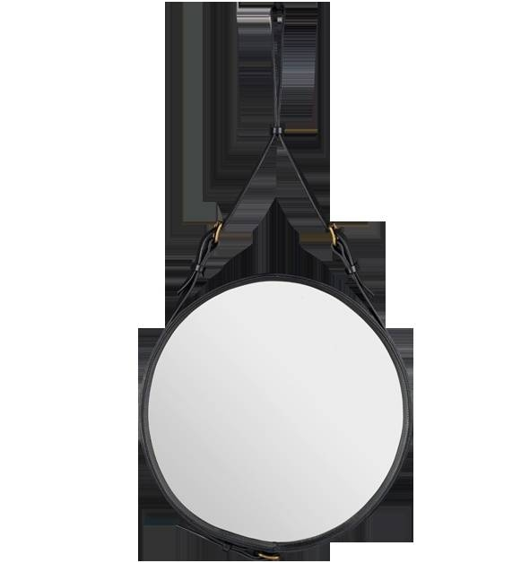Inspiration about 36 Best Gubi Accessories & Mirrors Images On Pinterest | Antique Throughout Black Leather Framed Mirrors (#15 of 30)
