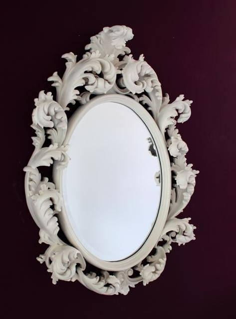 36 Best Mirrors Images On Pinterest | Mirror Mirror, Oval Mirror With Oval White Mirrors (#4 of 30)