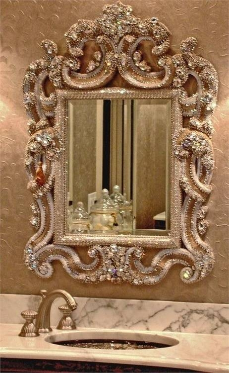 37 Best Embellished Mirrors Images On Pinterest | Mirror Mirror With Regard To Embellished Mirrors (#9 of 30)