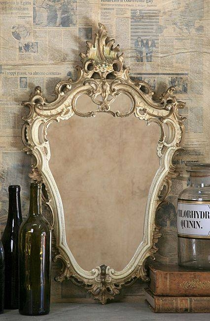 391 Best ~Mirrors~ Images On Pinterest | Mirror Mirror, Vintage Intended For Ornate Antique Mirrors (#3 of 15)