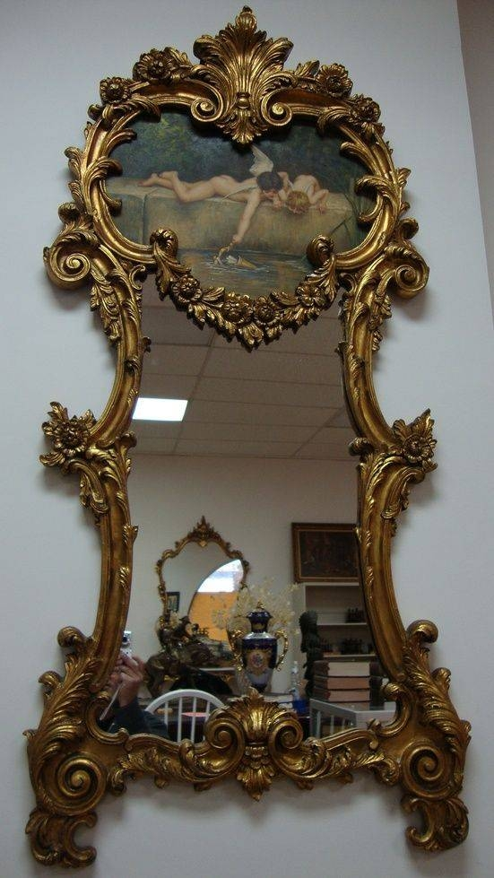 391 Best ~Mirrors~ Images On Pinterest | Mirror Mirror, Vintage Regarding Vintage Gold Mirrors (#10 of 30)