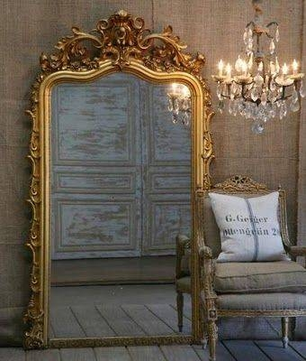 40 Best Antique Mirrors Images On Pinterest | Antique Mirrors Regarding Vintage Ornate Mirrors (#4 of 15)