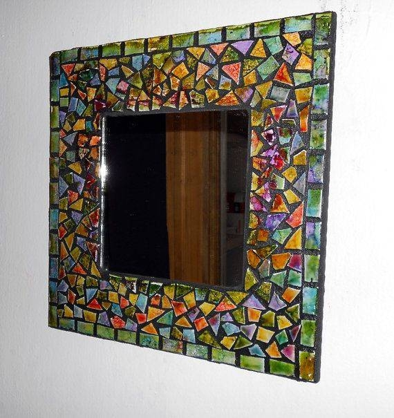 Inspiration about 401 Best Mosaic Frames Images On Pinterest | Mosaic Art, Mosaic Regarding Black Mosaic Mirrors (#15 of 30)