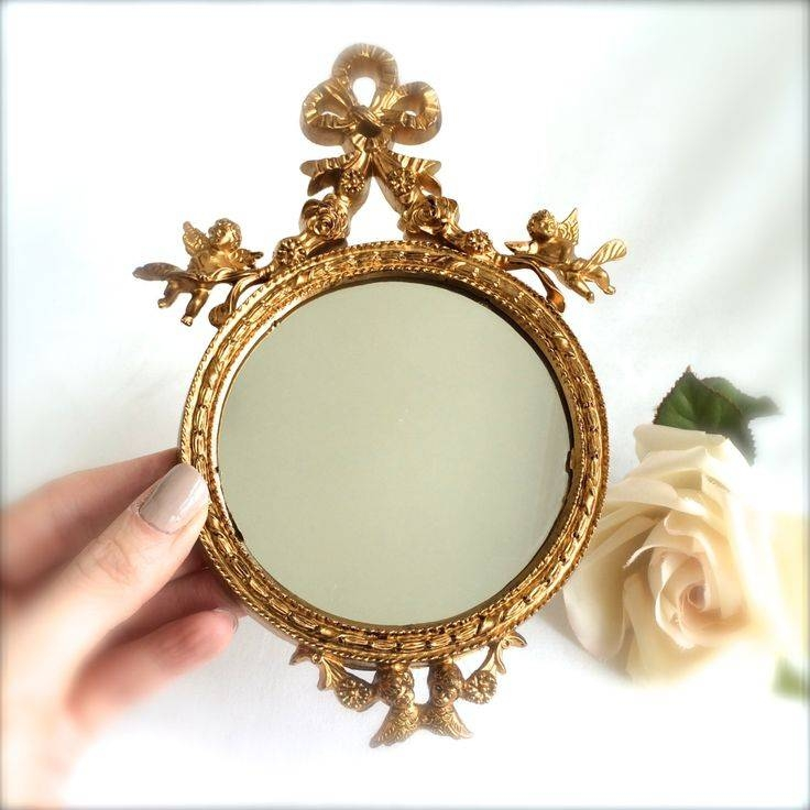 402 Best Little Furniture: Mirrors Images On Pinterest | Doll Inside Small Gold Mirrors (View 9 of 20)