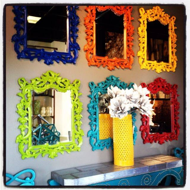 20 Photo Of Bright Coloured Mirrors