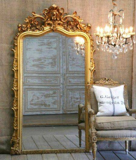 41 Best Gold Ornate Mirrors Images On Pinterest | Ornate Mirror Regarding Big Gold Mirrors (#4 of 15)