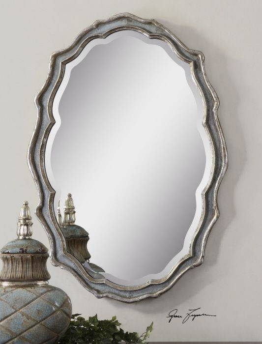 Popular Photo of Silver Oval Wall Mirrors