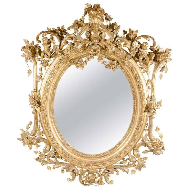 Inspiration about 416 Best Mirrors Images On Pinterest | Antique Mirrors, Mirror For Rococo Gold Mirrors (#6 of 20)