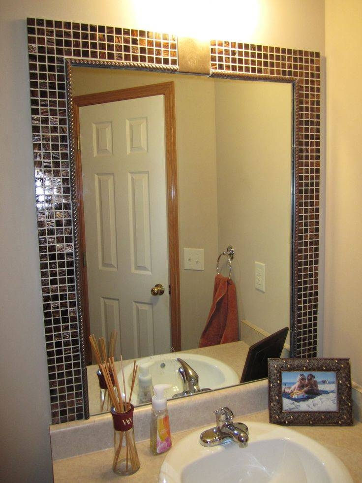 Inspiration about 42 Best Mirror Framing Ideas Images On Pinterest | Bathroom Ideas Pertaining To Mirrors Without Frames (#18 of 20)