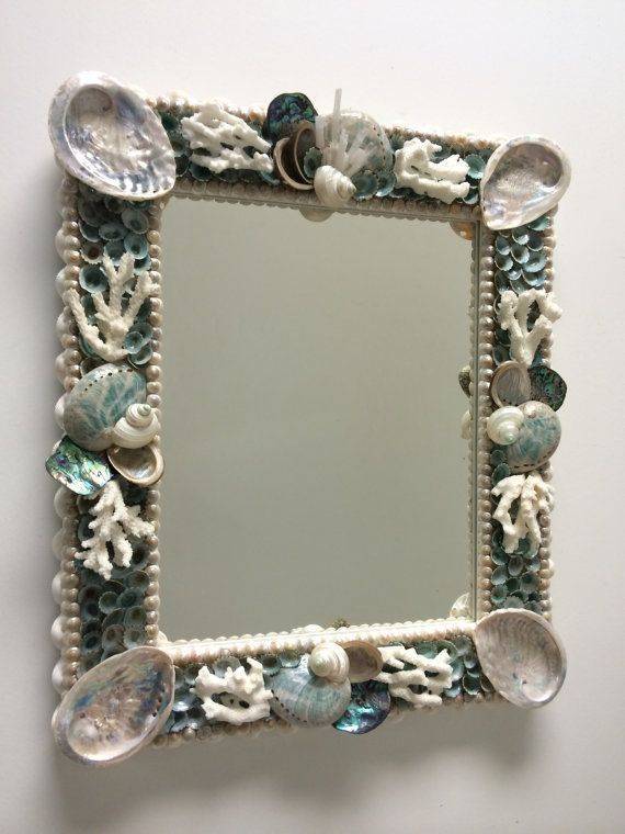 443 Best Shells Images On Pinterest | Seashell Art, Seashell With Regard To Mirrors With Crystals (#12 of 30)