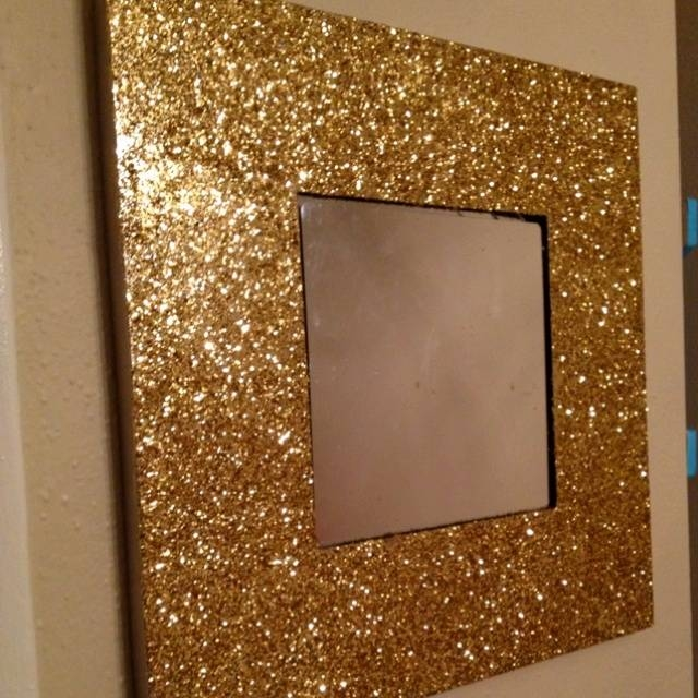 45 Best Diy Mirrors Images On Pinterest | Diy Mirror, Home And Inside Glitter Frame Mirrors (#2 of 20)