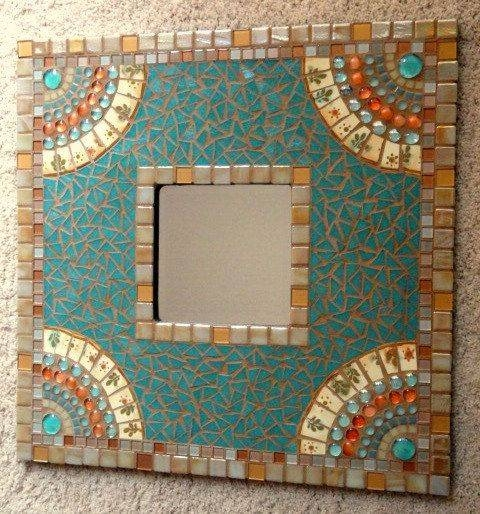 47 Best Craft ~ Mosaic ~ Mirrors Images On Pinterest | Mosaic Art Intended For Large Mosaic Mirrors (#4 of 30)