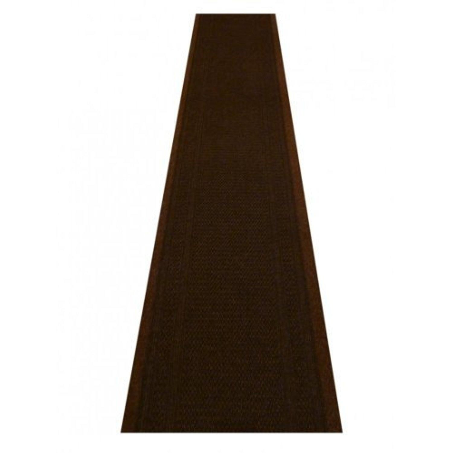 Inspiration about 47 Sizes Available Aztec Dark Brown Sisal Style Carpet Runner In Hall Runners Any Length (#9 of 20)