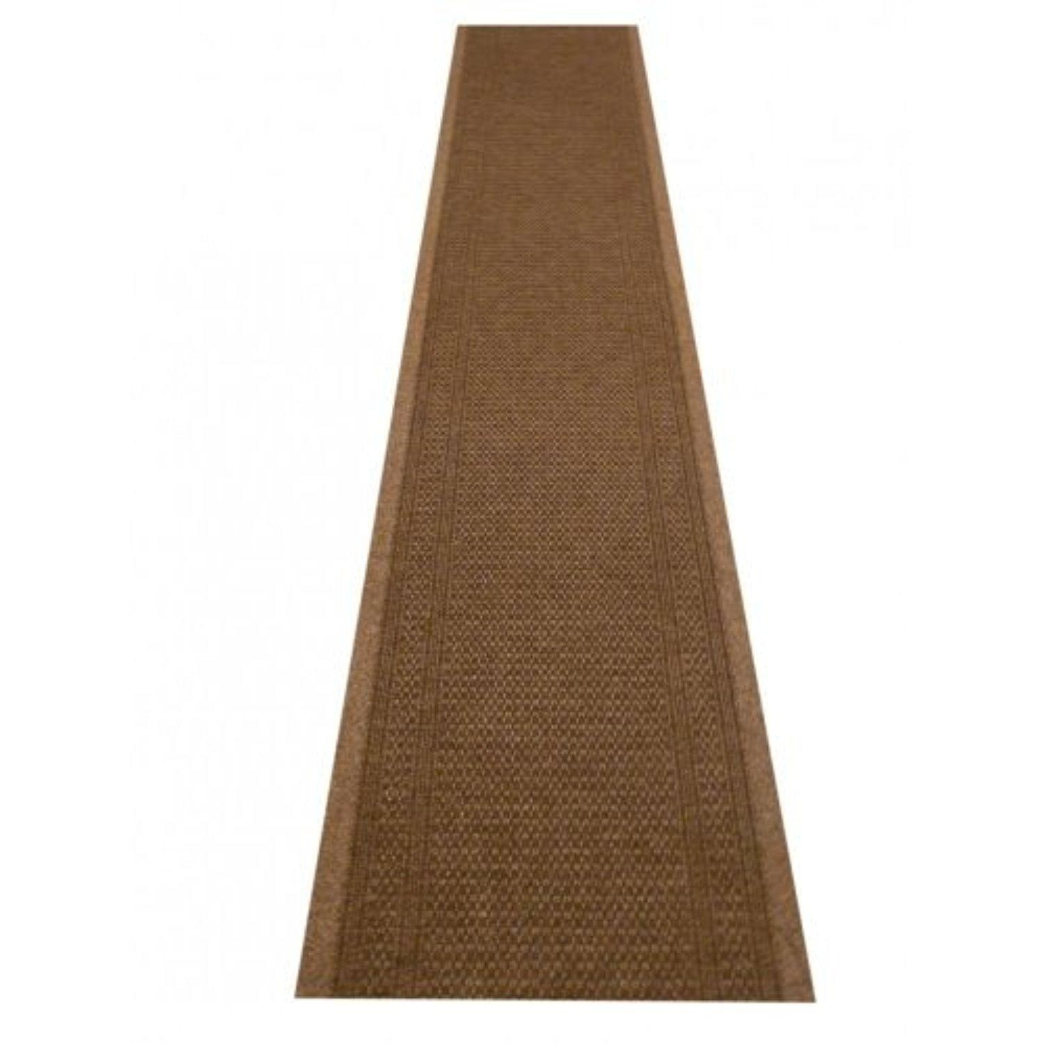 47 Sizes Available Aztec Light Brown Sisal Style Carpet Runner With Regard To Hall Runners Any Length (#2 of 20)