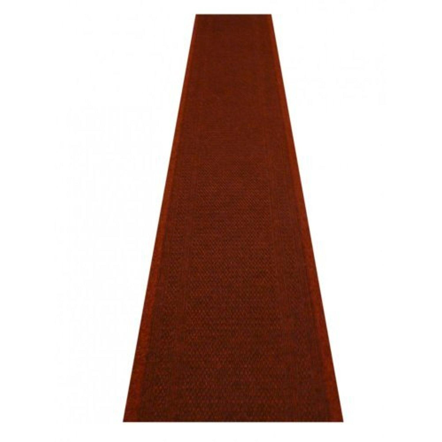 Inspiration about 47 Sizes Available Aztec Red Sisal Style Carpet Runner Rug For Hall Runners Any Length (#11 of 20)