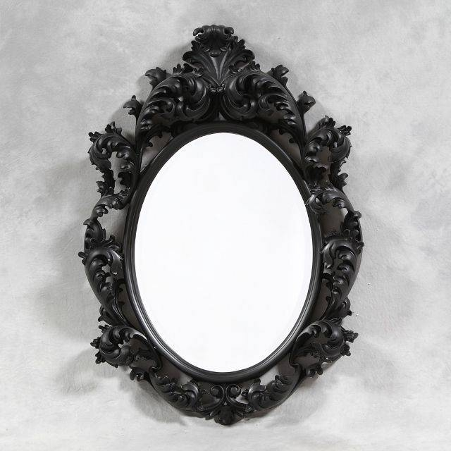 Inspiration about 48 Best Mirrors Images On Pinterest | Bespoke, Wall Mirrors And Rococo Inside Black Oval Mirrors (#6 of 30)