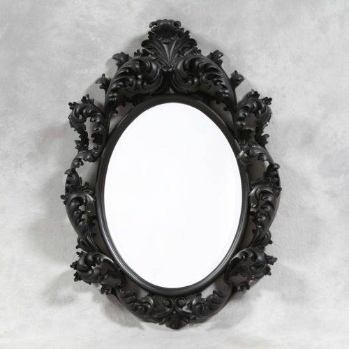 48 Best Mirrors Images On Pinterest | Bespoke, Wall Mirrors And Rococo Inside Black Shabby Chic Mirrors (#8 of 20)