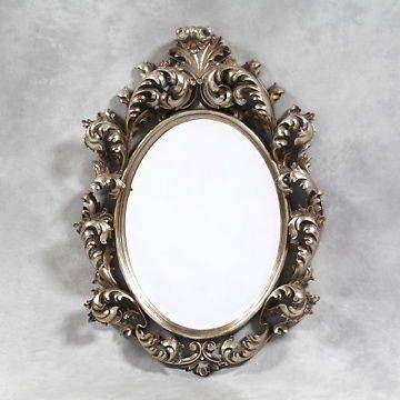 48 Best Mirrors Images On Pinterest | Bespoke, Wall Mirrors And Rococo Regarding Silver Oval Mirrors (#1 of 20)