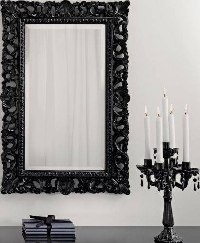 48 Best Mirrors Images On Pinterest | Bespoke, Wall Mirrors And Rococo With Regard To Long Black Wall Mirrors (#4 of 30)