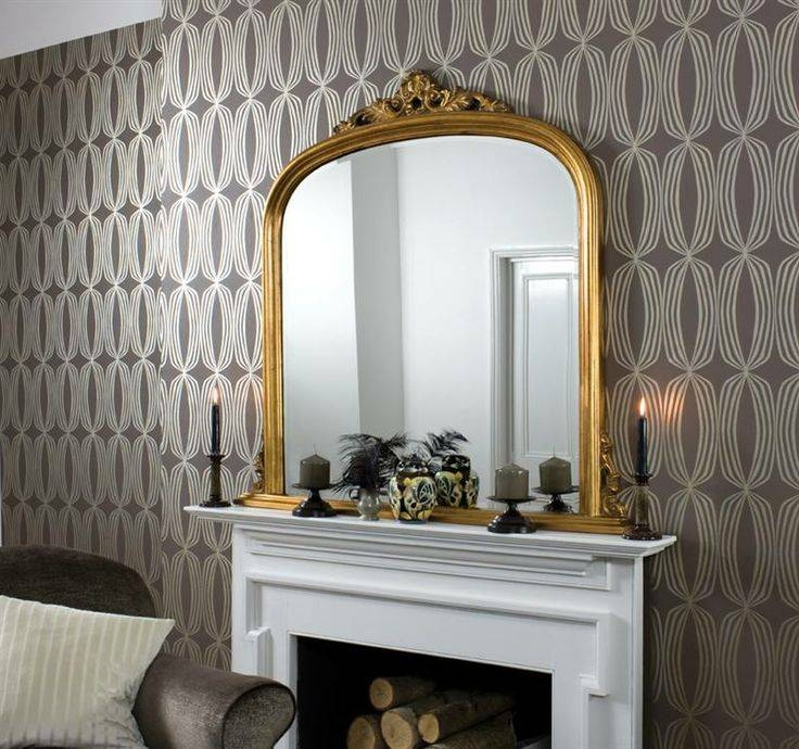 Inspiration about 48 Best Over Mantle Mirrors Images On Pinterest | Overmantle Pertaining To Gold Mantle Mirrors (#1 of 30)