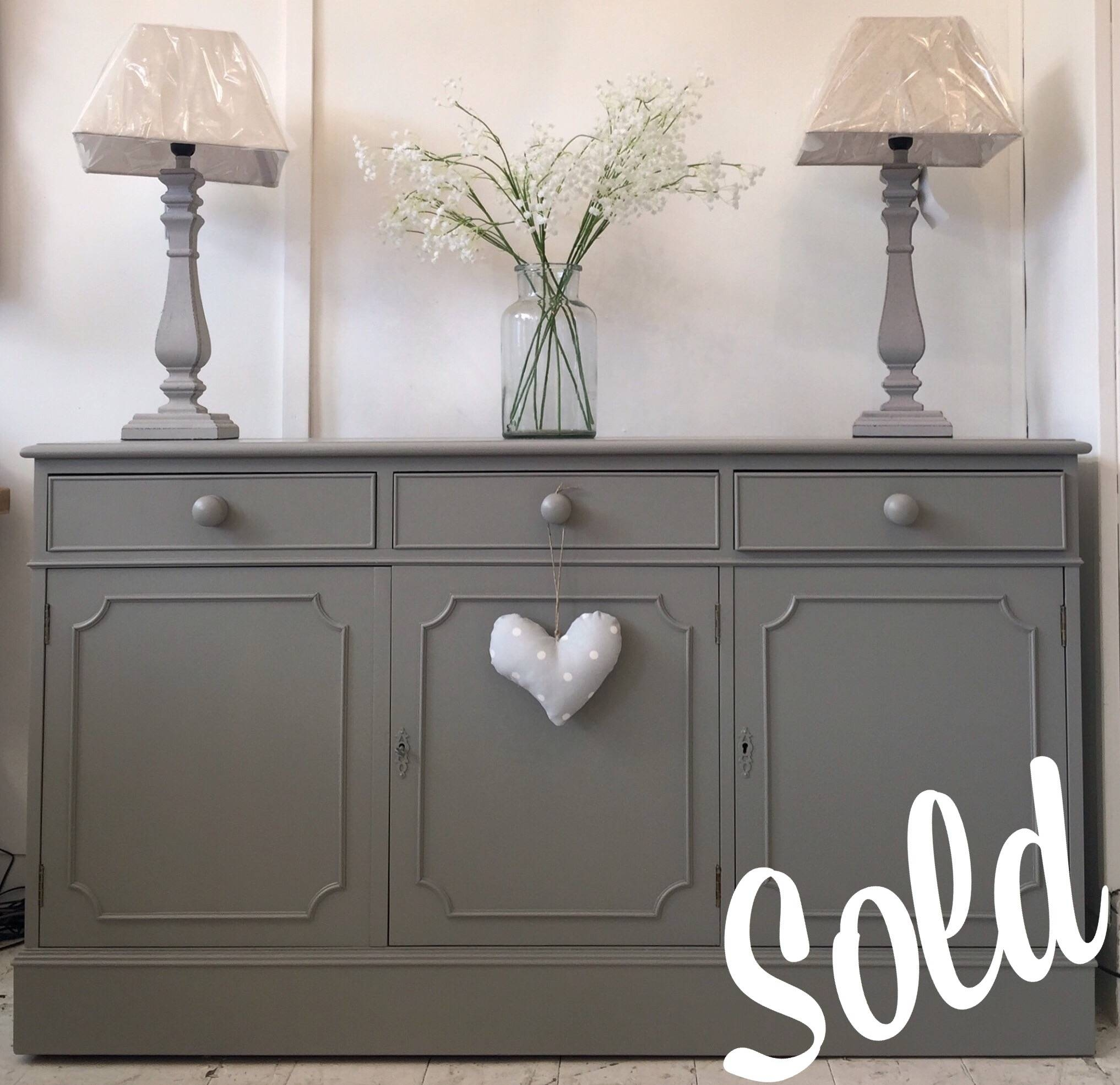 Inspiration about 4Ft7'' Long Dark Grey Sideboard – Home Sweet Homehome Sweet Home Within Grey Sideboard (#1 of 20)