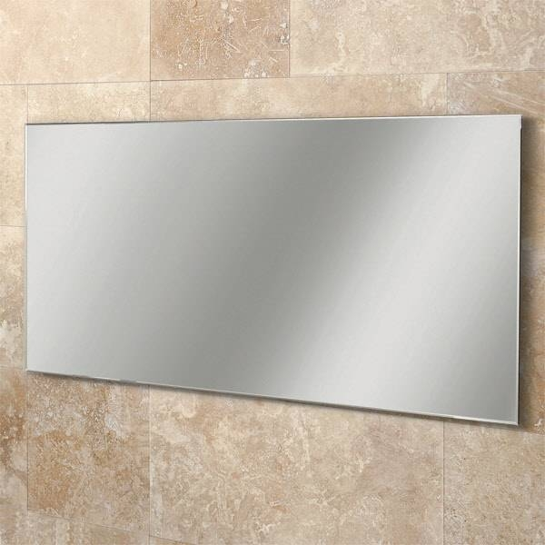 Inspiration about 5 Shower Mirror Uk, Modern Grey Bathroom With Round Mirrors For Modern Bevelled Mirrors (#30 of 30)