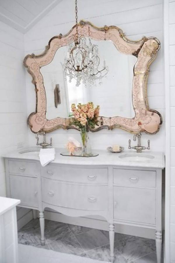 Inspiration about 50+ Amazing Shabby Chic Bathroom Ideas Throughout Shabby Chic Bathroom Mirrors (#7 of 30)
