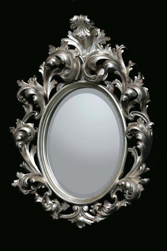 Inspiration about 51 Best Stylish Mirrors Images On Pinterest | Rococo, Mirror Within Silver Oval Wall Mirrors (#13 of 20)