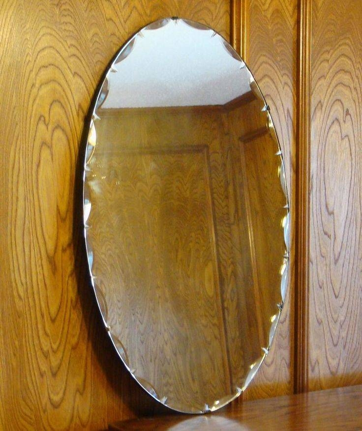 Inspiration about 52 Best Vintage Frameless Mirrors Images On Pinterest | Vintage Regarding Oval Bevelled Mirrors (#28 of 30)